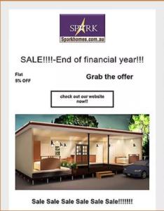 Spark Home Sale
