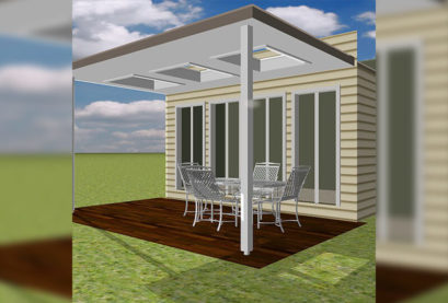 Patio Pergola Kit Insulated Sun Lit 01