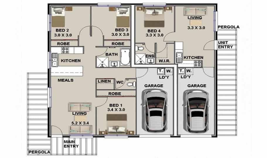 Duplex Design Plan 153 Duk 02