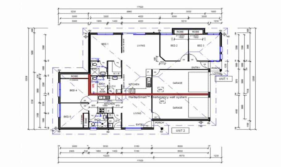 Duplex Design Plan 183 Duk 02