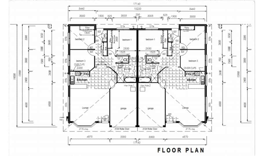Duplex Design Plan 237 DUK 02