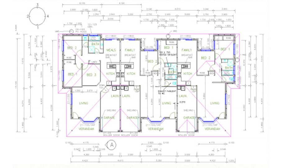Duplex Design Plan 336 DUK 03