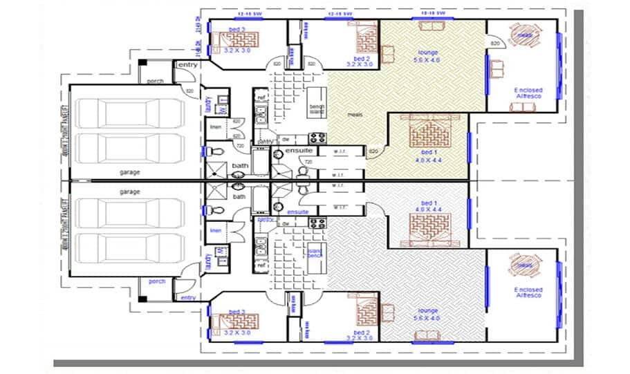 Duplex Design Plan 376 DUK 01