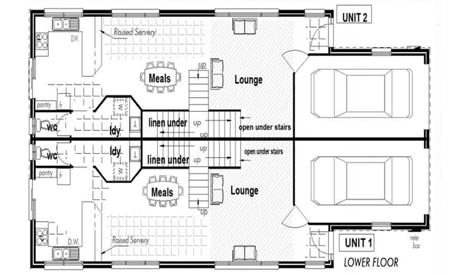 Duplex Kit Home Design Plan 297A 02