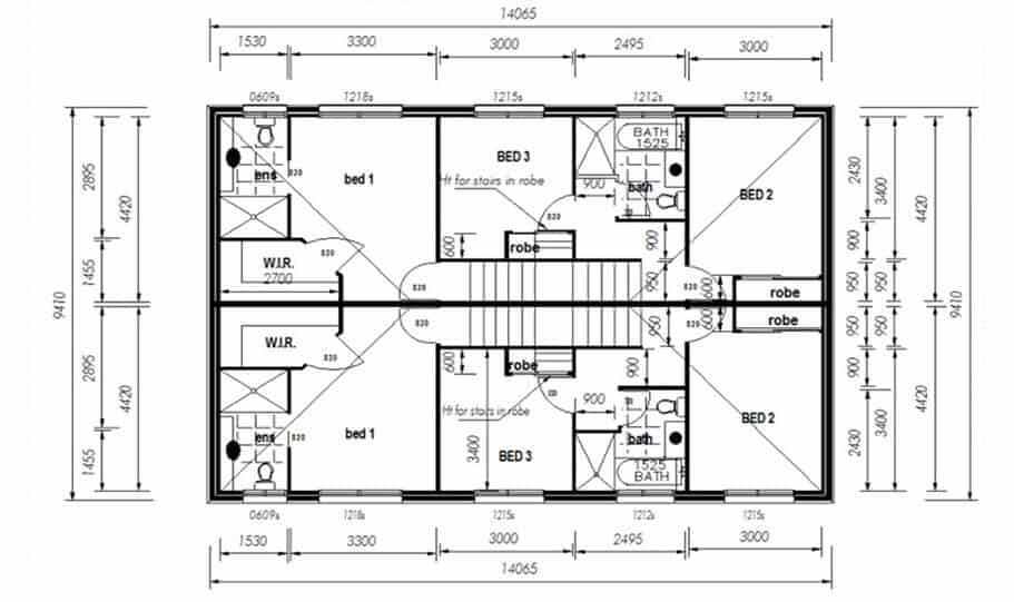 Duplex Kit Home Design Plan 297a 03