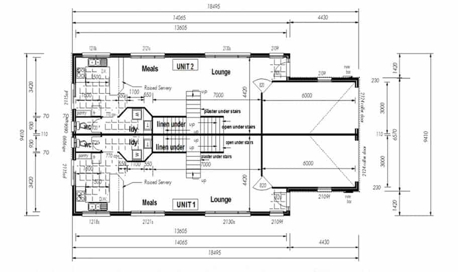 Duplex Kit Home Design Plan 297A 04