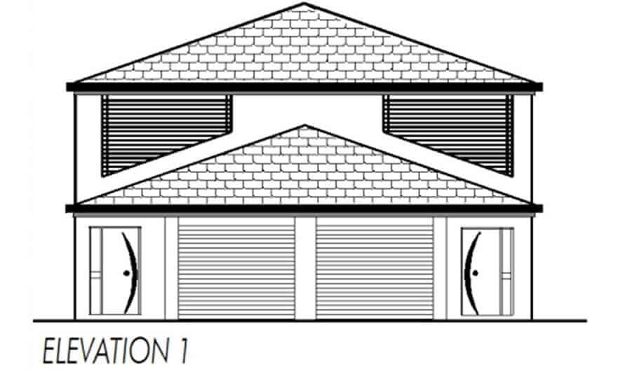 Duplex Kit Home Design Plan 297a 05