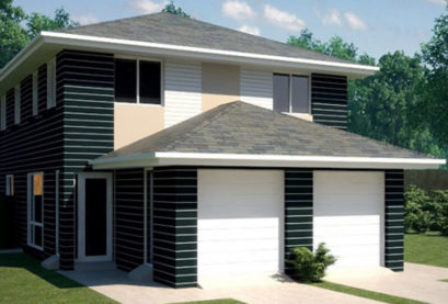 Duplex Kit Home Design Plan 297A 09