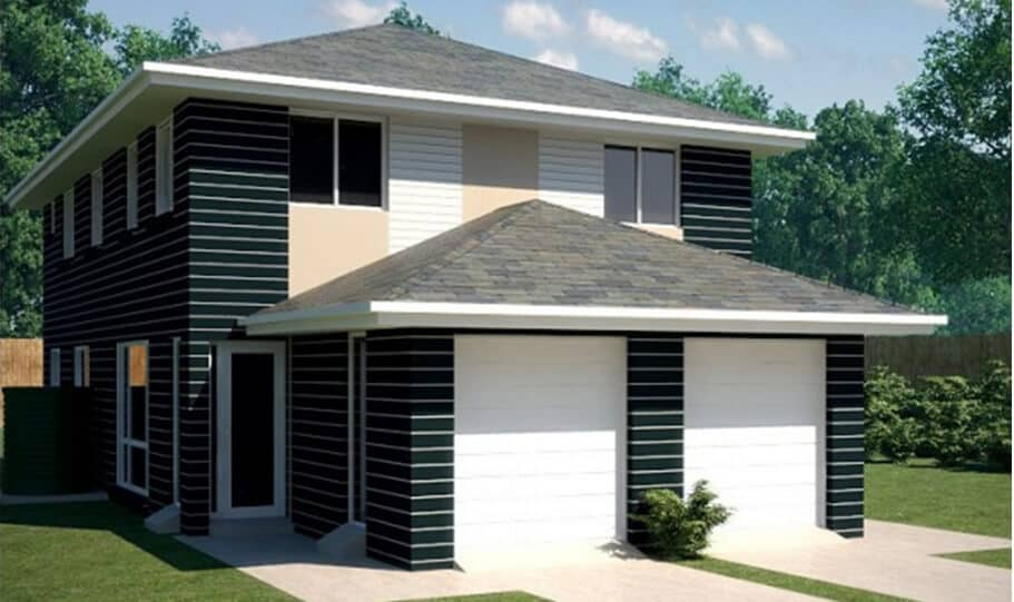 Duplex Kit Home Design Plan 297A 09