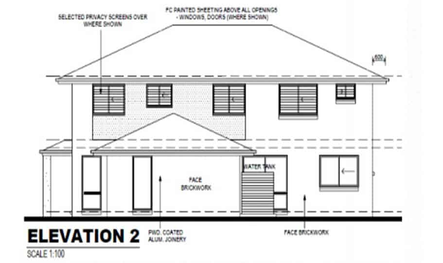 Duplex Kit Home Design Plan 297B 04