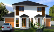 Duplex Kit Home Design Plan 297B 07