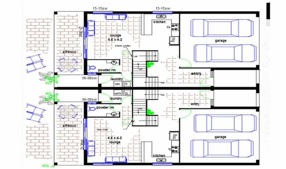 Duplex Kit Home Design Plan 299t 02