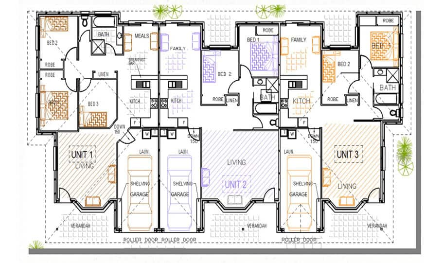 Duplex Kit Home Design Plan 345 TD 05