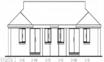 Duplex Kit Home Plan 234DUK 234.2m2 6 Bedrooms 2 Bath 6