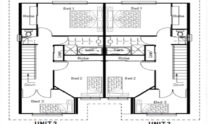 Duplex Kit Home Plan 380TH 380m2 12 Bedrooms 4 Bath 3