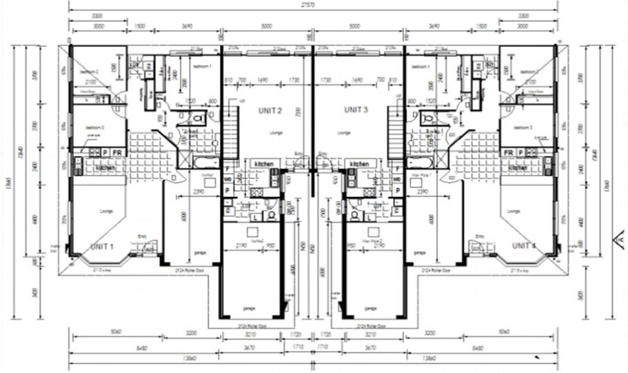 Duplex Kit Home Plan 380TH 380m2 12 Bedrooms 4 Bath 4
