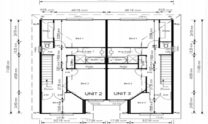 Duplex Kit Home Plan 380TH 380m2 12 Bedrooms 4 Bath 5