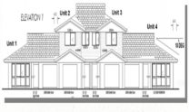 Duplex Kit Home Plan 380TH 380m2 12 Bedrooms 4 Bath 6