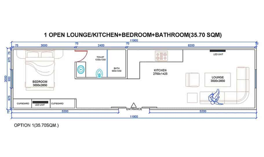 One King Bt1bk 40 Foot Container Home 03