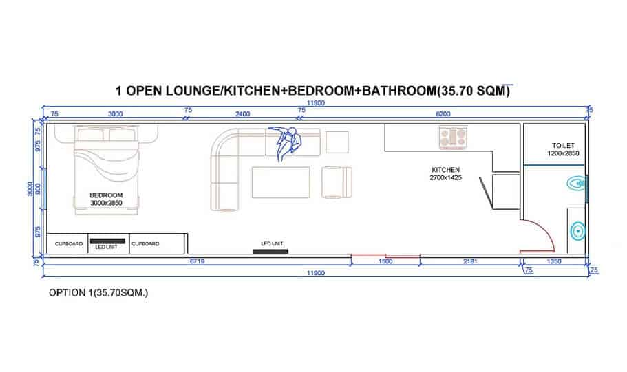 One King Bt1bk 40 Foot Container Home 04