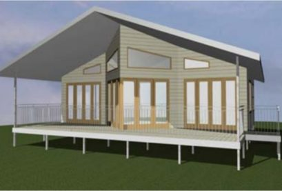 One Storey Kit Homes Plan 100 A, 100 M2, 2 Bed (1)