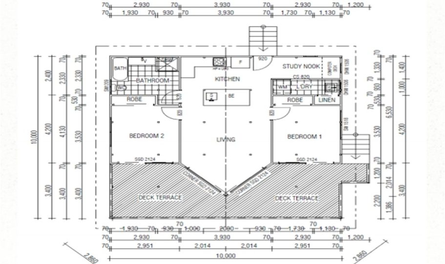 One Storey Kit Homes Plan 100 A 100 m2 2 Bed 9