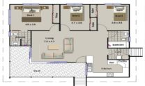 One Storey Kit Homes Plan 112, 112m2, 3 Bed 2 Bath (8)