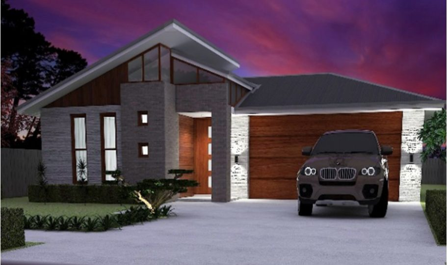 One Storey Kit Homes Plan 181, 182m2, 4 Bed 2 Bath (1)