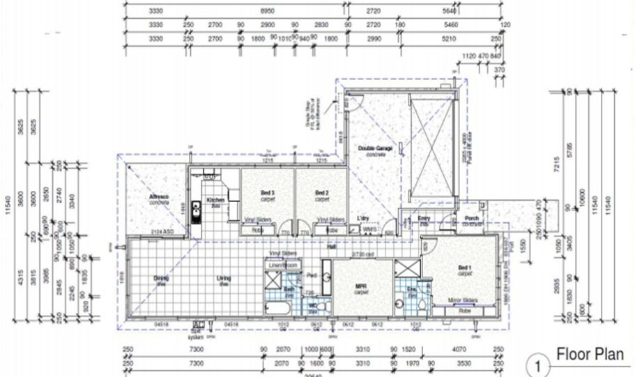 One Storey Kit Homes Plan 181, 182m2, 4 Bed 2 Bath (9)
