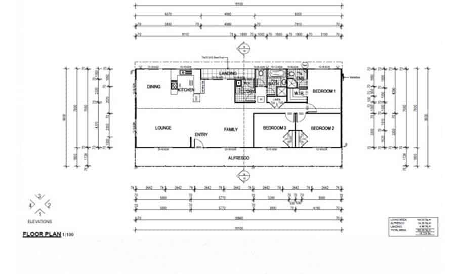 One Storey Plan 148 01