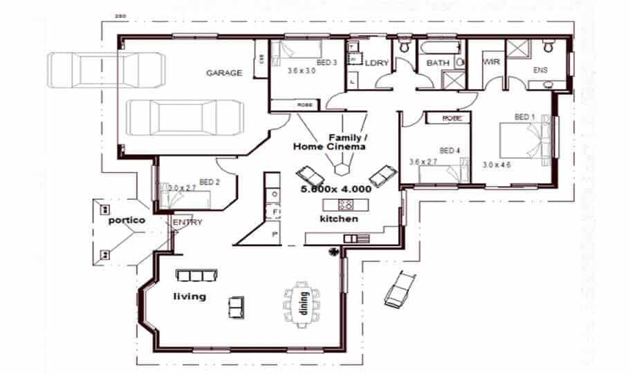 One Storey Plan 159 01 1