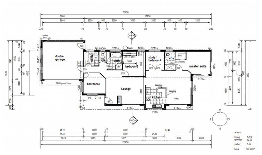 One Storey Plan 167 01