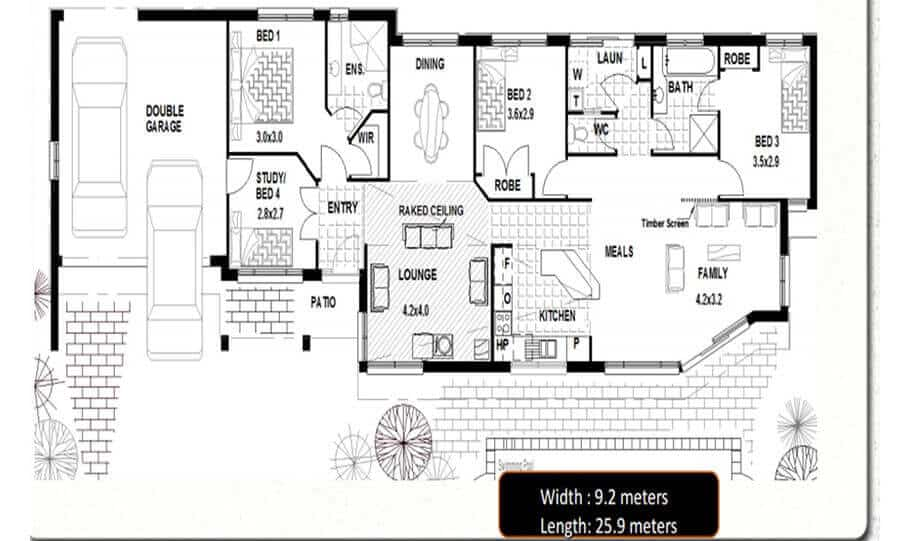 One Storey Plan 170 CL 06
