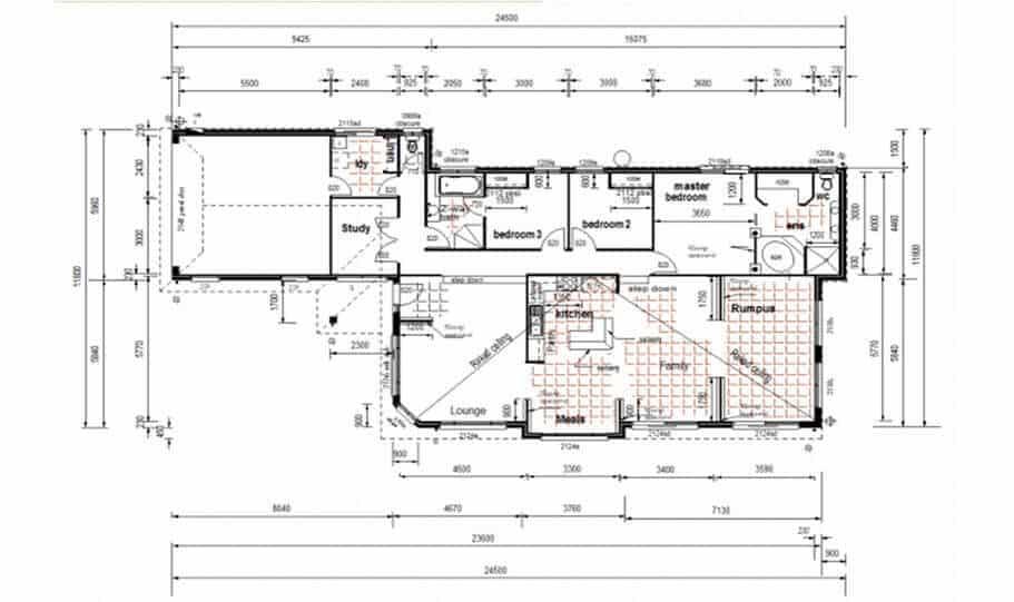 One Storey Plan 220N 02