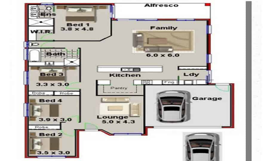 One Storey Plan 227 01
