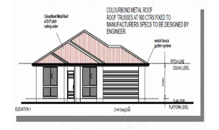 One Storey Plan 227 03