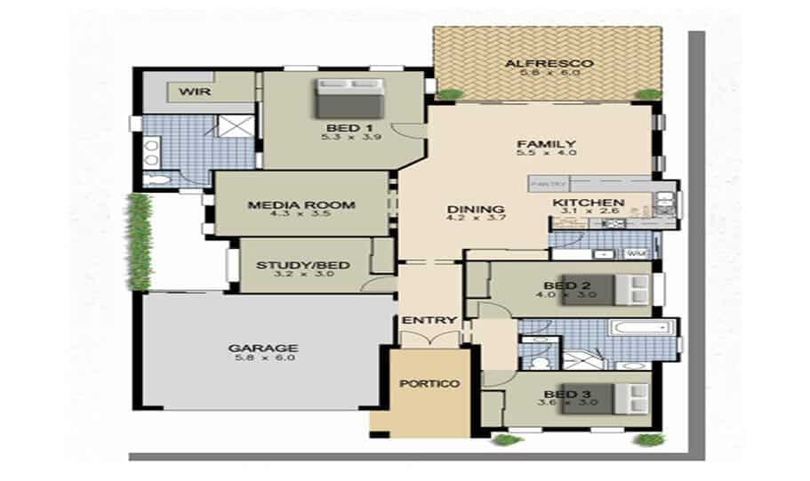 One Storey Plan 250 01
