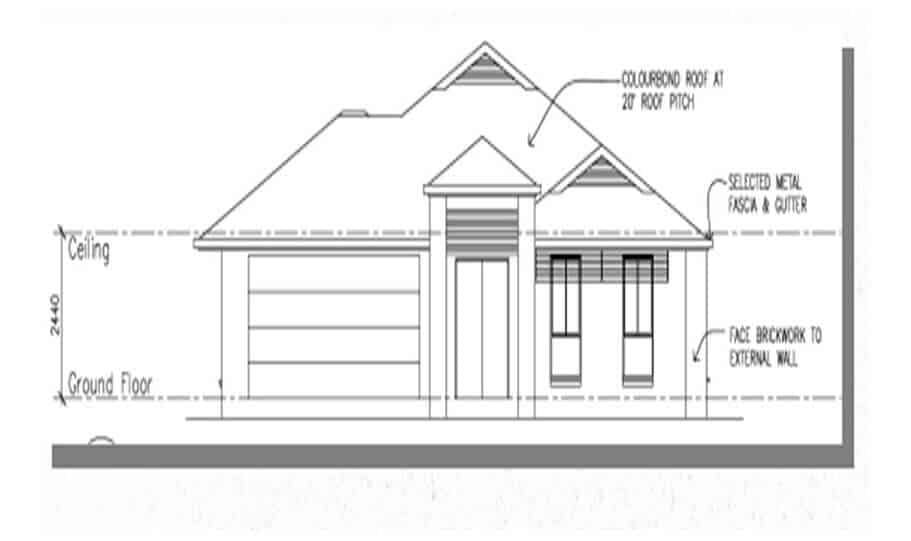 One Storey Plan 250 03