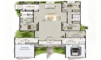 One Storey Plan 270N 01