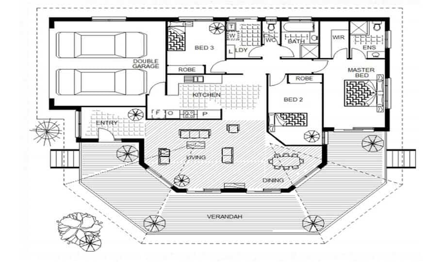 Sloping Land Kit Home Design 134 01
