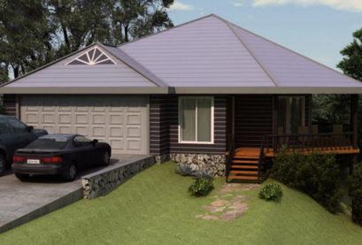 Sloping Land Kit Home Design 134 05