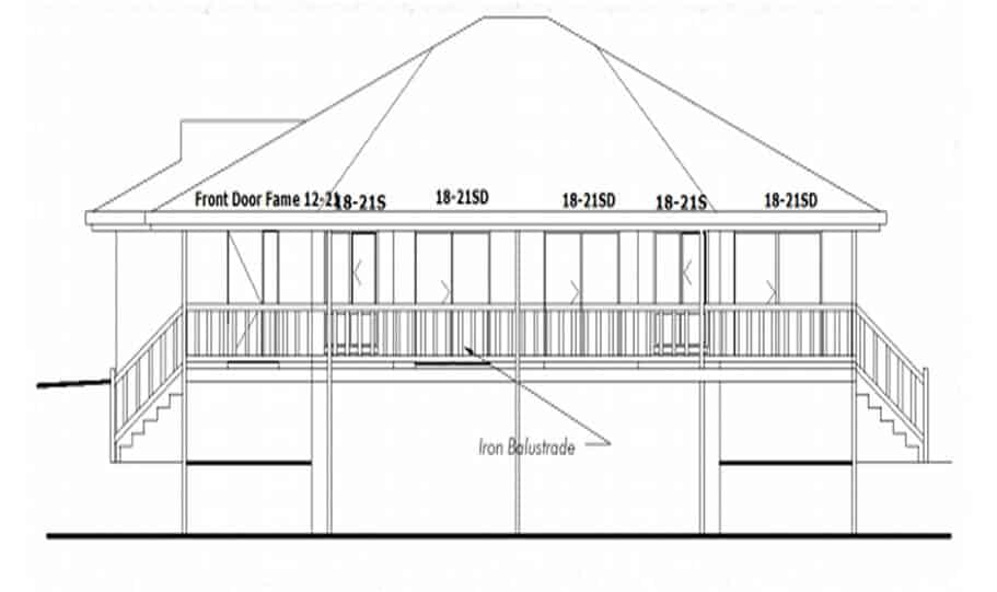 Sloping Land Kit Home Design 134 07