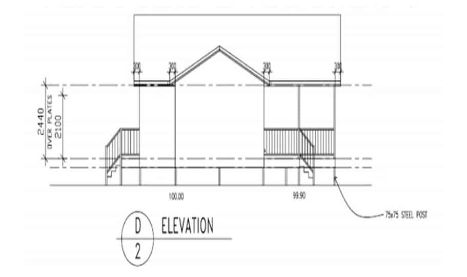 Sloping Land Kit Home Design 173 02