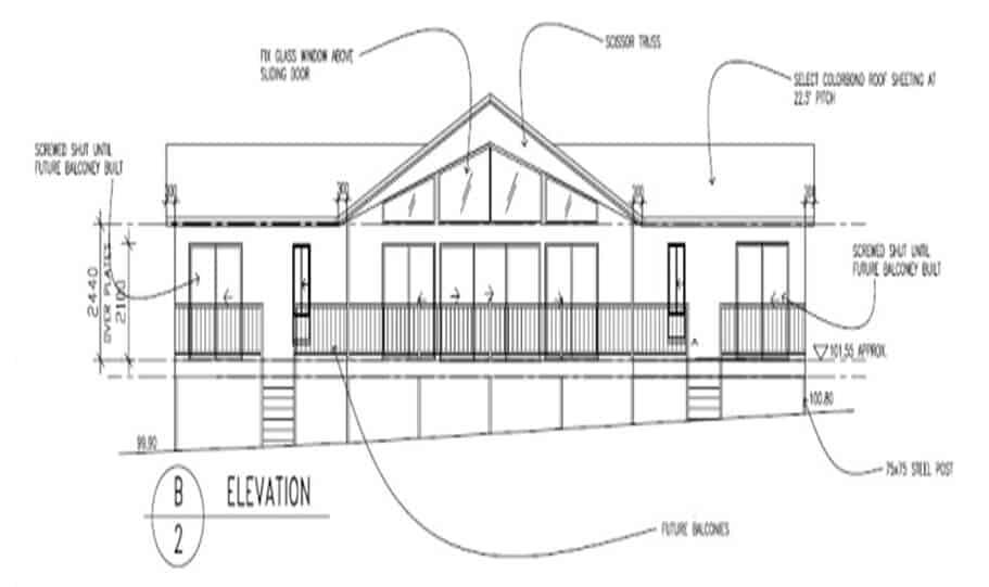Sloping Land Kit Home Design 173 03