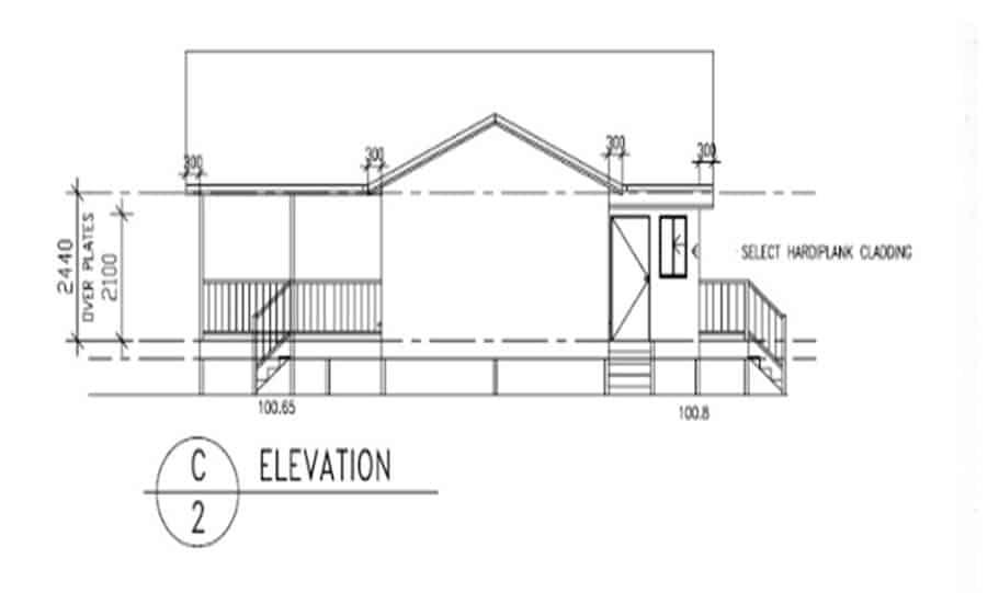 Sloping Land Kit Home Design 173 04