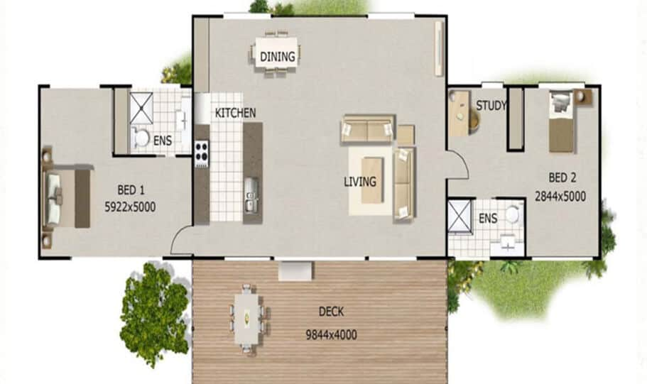Sloping Land Kit Home Design 173 06