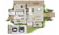 Sloping Land Kit Home Design 242 01