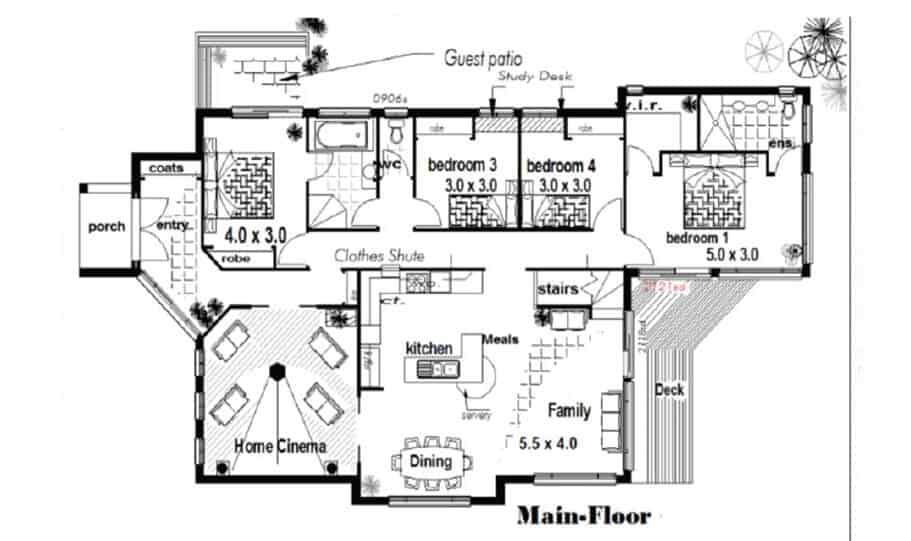 Sloping Land Kit Home Design 257 01