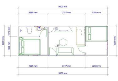 Spark Dwight 2 Bedroom 3x9 1