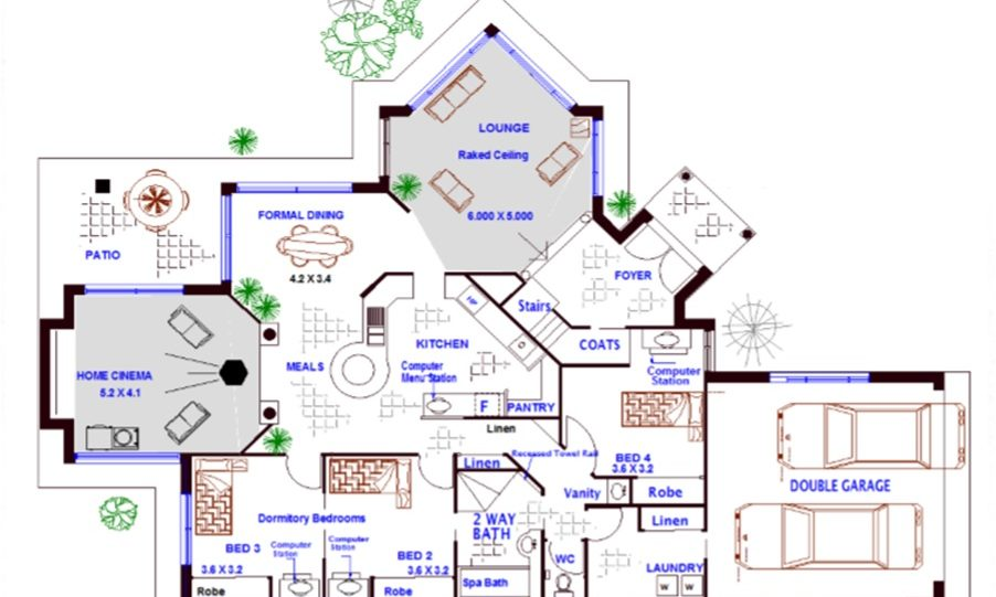 Two Storey Kit Home Plan 251 B 251.59 m2 4 Bed 2 Bath 2